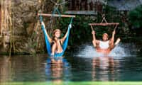 Have a blast as you splash into a cenote at Xplor Park, Riviera Maya
