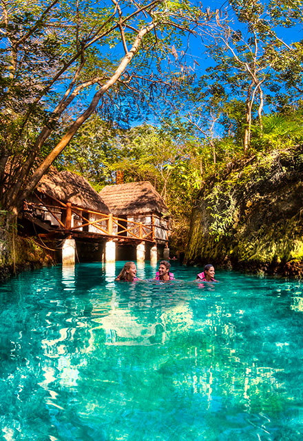 Swimming in Underground Rivers Xcaret | Xplor Packages