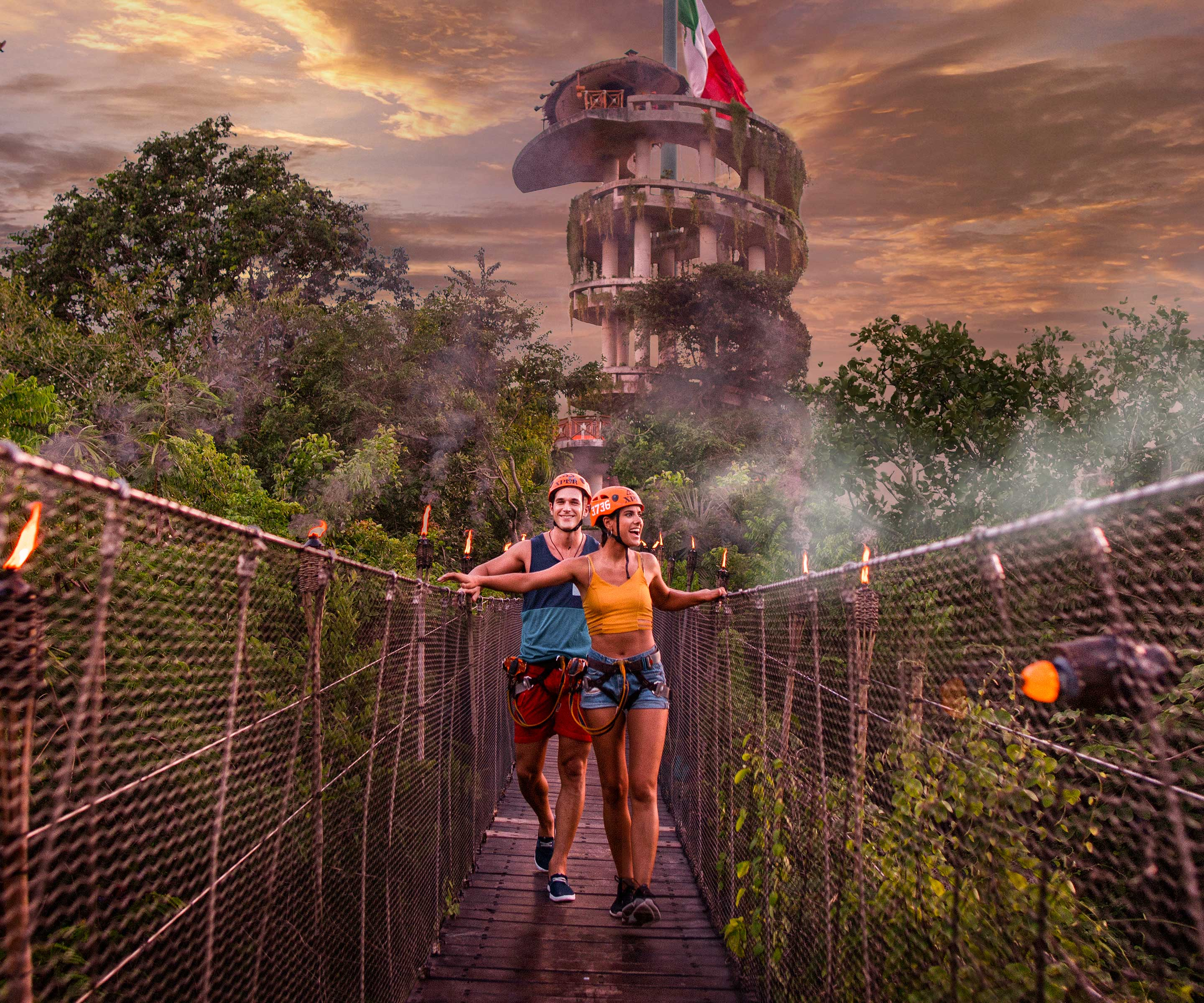 Have a blast in a night adventure through underground rivers at Xplor Fuego